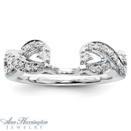 14k White or Yellow Gold .20 ct tw Diamond Antique Style Ring Enhancer