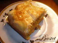 Греческий пирог с курицей (фаршем) с оригинальной формовкой