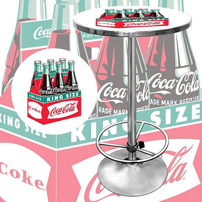 Wonderful Coca Cola Vintage Officially Licensed Pub Table Will Be The Highlight Of  Your Bar Or GameroomTable
