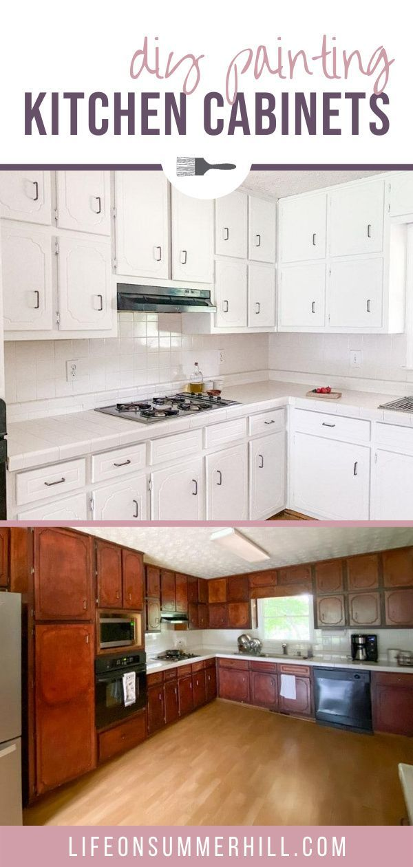 How To Paint Cabinets Without Sanding In 2020 Diy Kitchen Cabinets Painting Painting Kitchen Cabinets Painting Cabinets