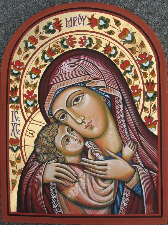 Madre de Dios con el niño Jesús. Icono ortodoxo a por ByzantineArt