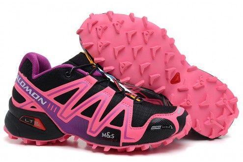 Outlet Salomon Mountain Trail Running SPIKECROSS 3 CS Womens Shoes black(Salomon 036)