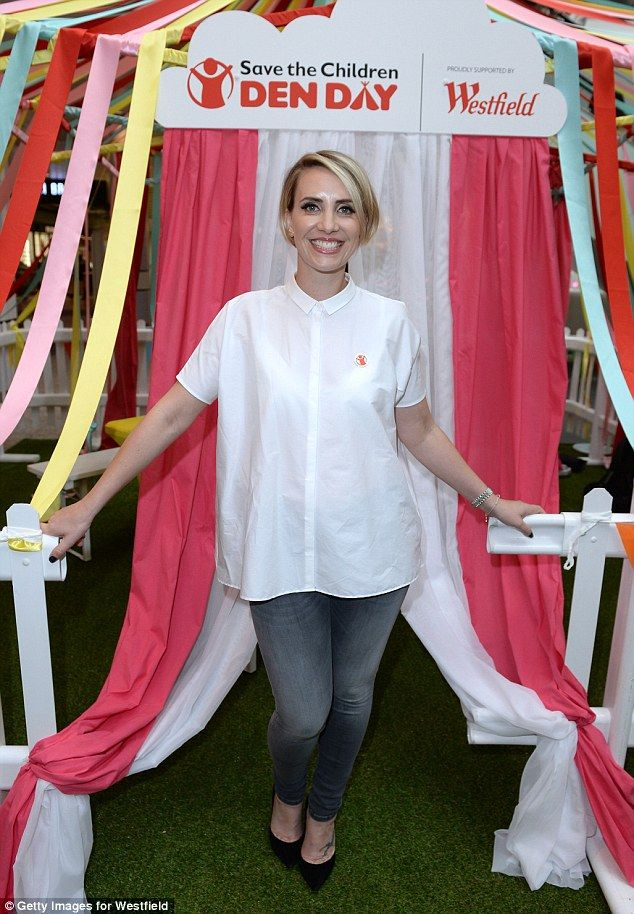 Radiant: Steps' Claire Richards proved she wanted to move beyond her singing career to give something back as she attended the Save the Chil...