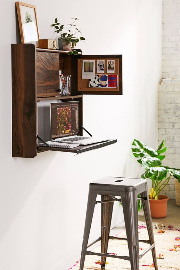 35 Functional Folding Desk Ideas For Small Space Solution Home Design And Interior In 2020 Wall Mounted Desk Fold Out Desk Desks For Small Spaces