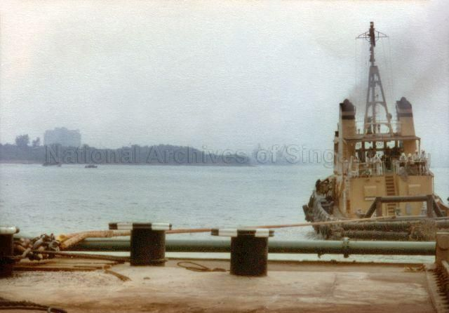BOLLARD PULL TEST CONDUCTED BY PORT OF SINGAPORE AUTHORITY (PSA) AT JURONG SHIPYARD - 1983