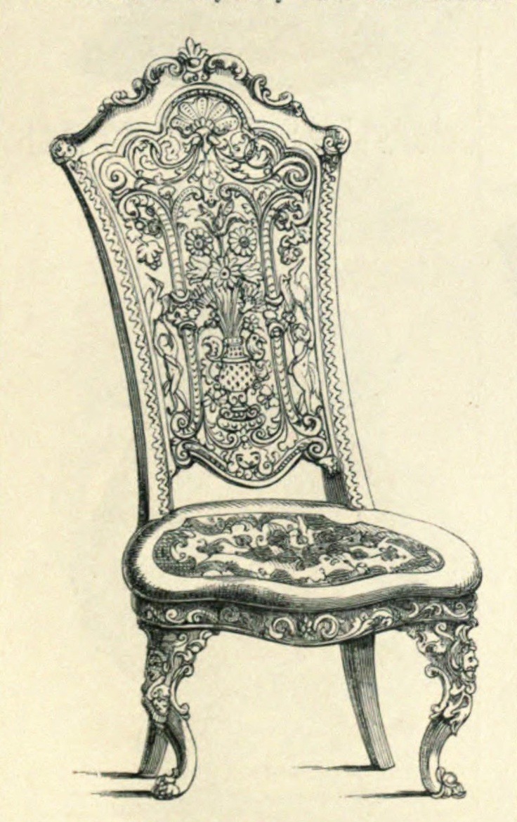 Chair antique queen anne chair the buzz on antiques antique chairs 101 - Vintage Ephemera Engravings And Etchings
