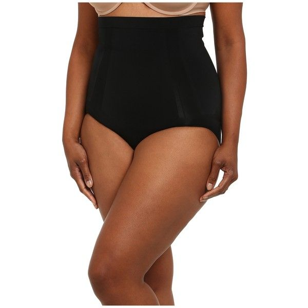 Spanx Plus Size Oncore High-Waist Brief (Very Black) Women's Underwear ($66) ❤ liked on Polyvore featuring plus size women's fashion, plus size clothing, plus size intimates and plus size shapewear