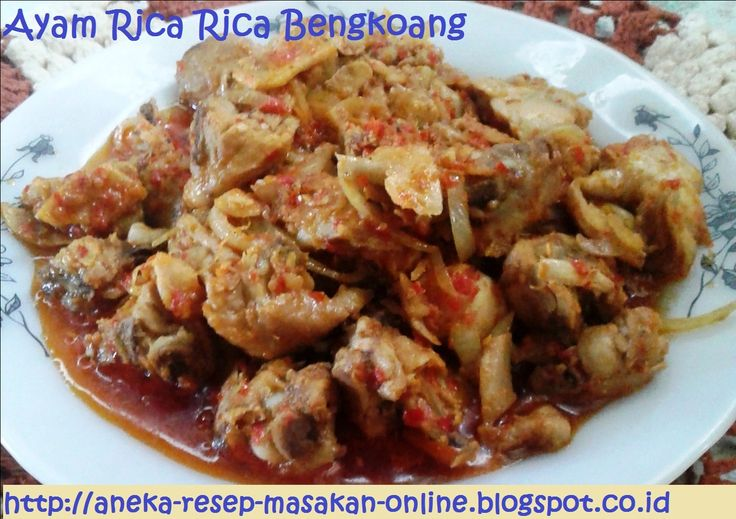 Ayam Rica Rica Bengkoang  MOdifikasi dari menu ayam rica rica khas Manado. Dimasak dengan bawng bombay dan bengkoang