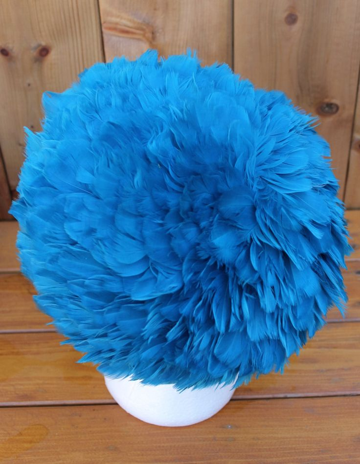 Vintage Showstopping Ladies Feathered English Mid Century Super Mod Turban Hat…