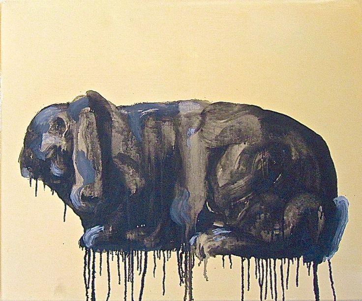 KF. BRANDT rabbit (deutsches widderkaninchen) oil on canvas, 70x55 cm 2012