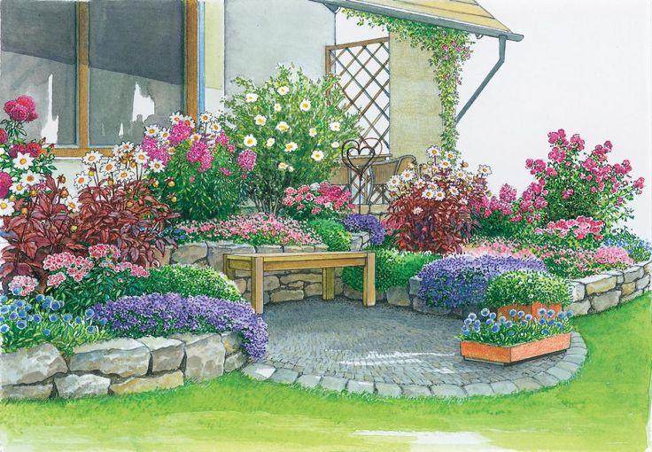 Ein neuer Sitzplatz in der Gartenecke