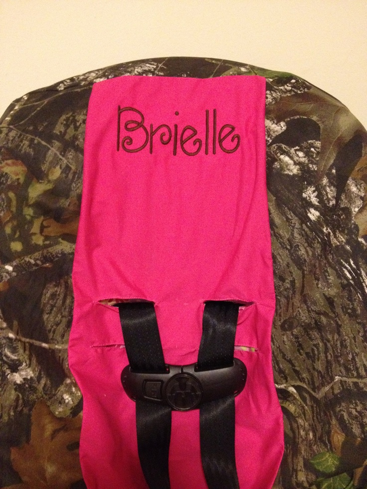 Pink Toddler Car Seat Cover Mossy Oak Fabric Camo With
