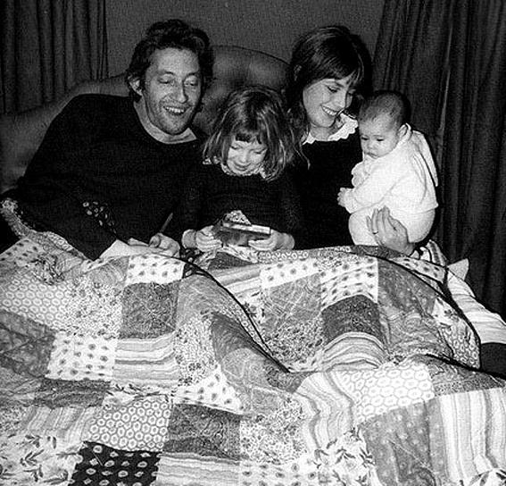 Serge Gainsbourg, Jane Birkin, Kate Barry and Charlotte Gainsbourg baby. by quicheisinsane, via Flickr
