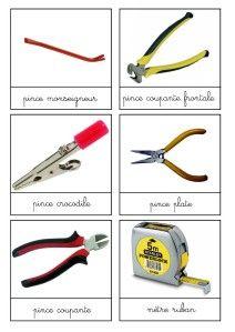 nomenclature : les outils de bricolage