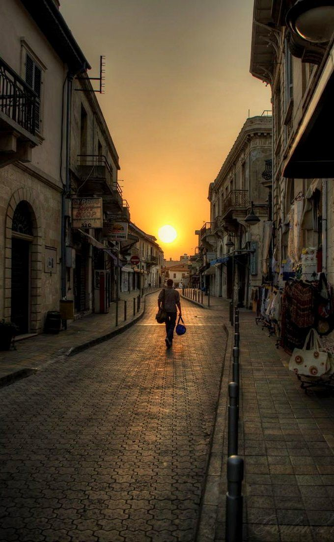 Sunset in the street.. Nicosia, Cyprus | by Gordon Zube on 500px