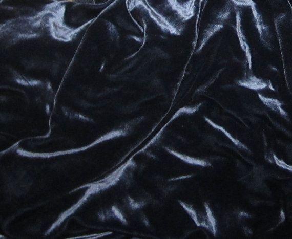 OCEAN BLUE Silk Velvet Fabric  fat 1/4 by silkfabric on Etsy