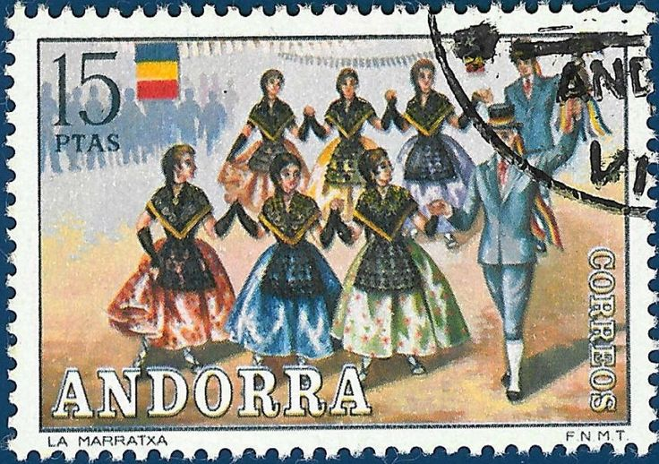Traditional Costumes : Postage Stamps Andorra, Spain