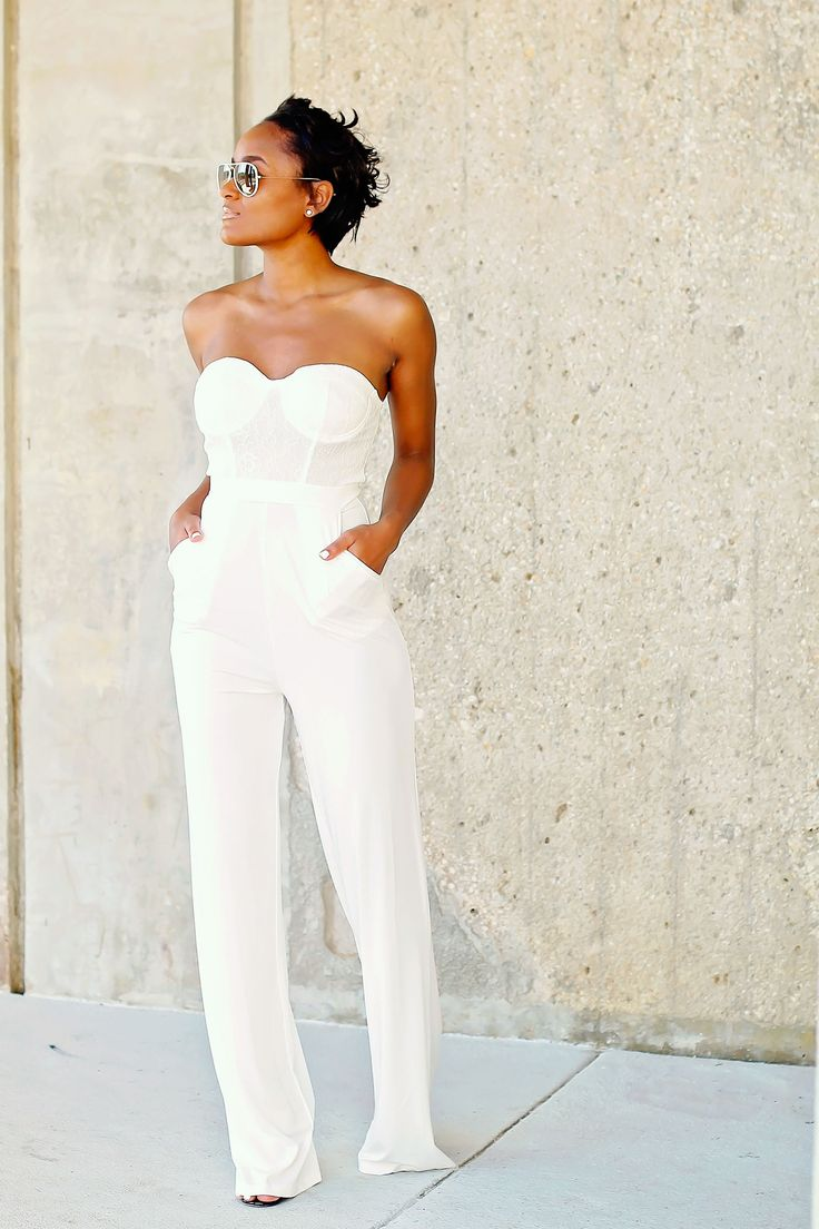 17 Best ideas about All White Jumpsuit on Pinterest | White outfit ...