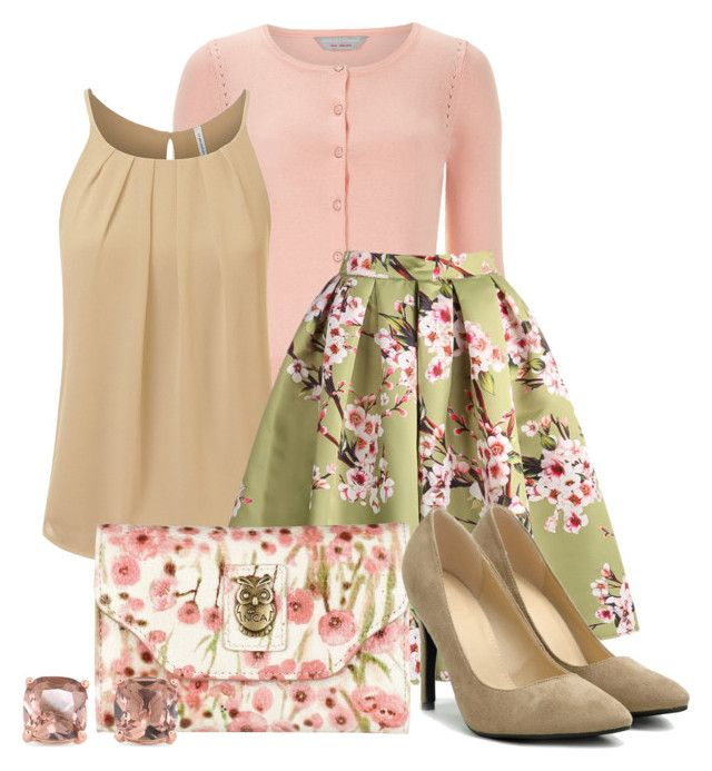 Rose Garden by tres-chic-geek on Polyvore featuring polyvore, fashion, style, Dorothy Perkins, Ollio, Nica, Carolee and clothing