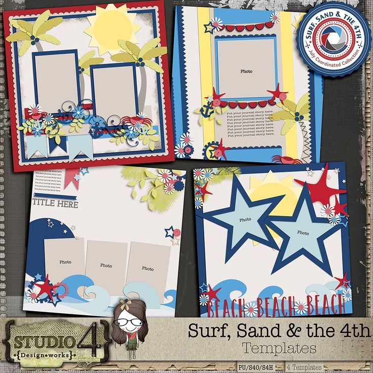 Personal Use :: Templates :: Surf Sand and the 4th Templates