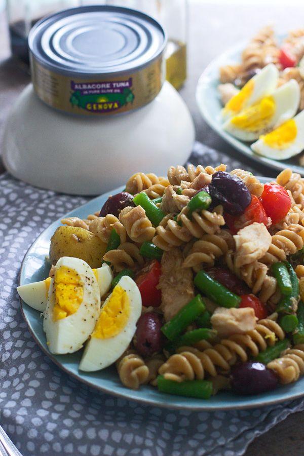 Tuna Nicoise Pasta Salad - a twist on a classic French recipe!