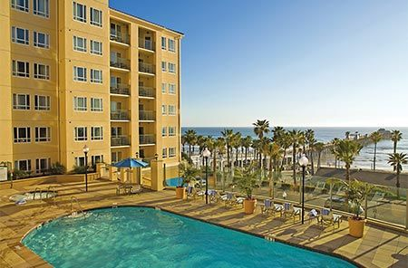 <p>Make the most out of your Oceanside vacation by choosing a resort that was built with families in mind. Wyndham Oceanside Pier Resort is a Mediterranean-style resort situated at the base of Southern California's longest active recreational pier and across from some of its most beautiful beaches. Enjoy your romantic retreat or family getaway in a place as warm and inviting as the California sun!</p>  <p>Wyndham Oceanside Pier Resort features hotel rooms as well as One and Two Bedroom…