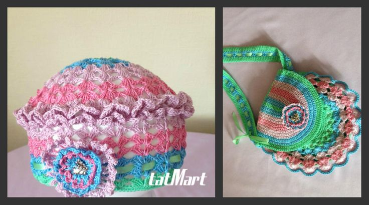 gerl's beret and handbag - Crochet creation by tatMart