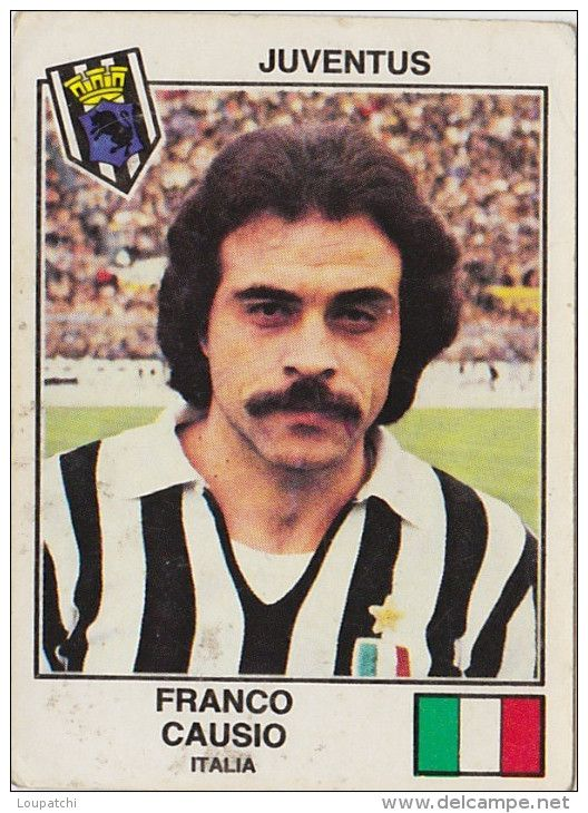 PANINI EURO FOOTBALL 1979 FRANCO CAUSIO JUVENTUS TURIN ITALIA