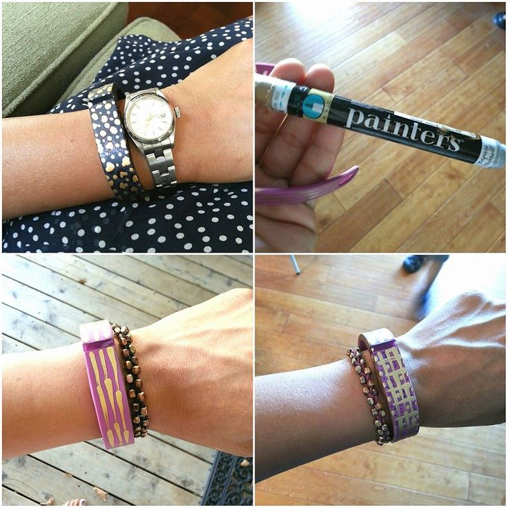 Diy Bands: Fitbit Band DIY Makeover Using Elmer's Painters Pens And