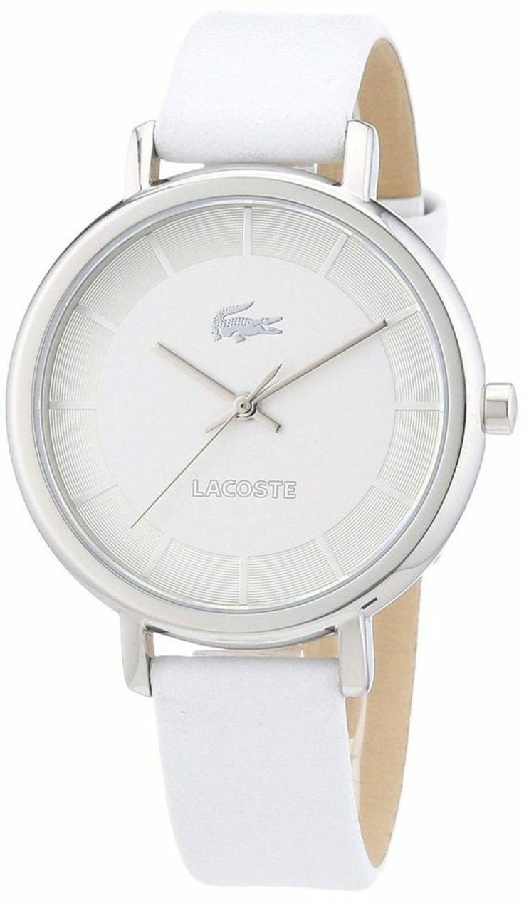 Lacoste Armbanduhr für Damen mit weißem Lederband