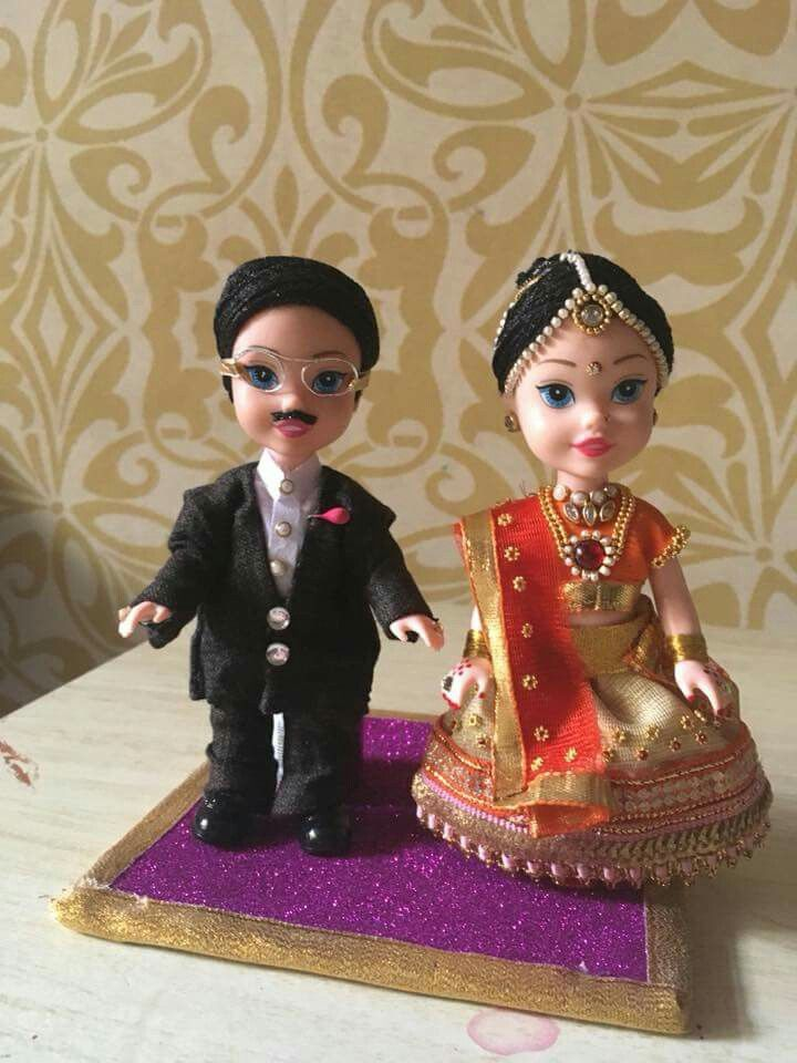 Indian Dressed Couple Dolls
