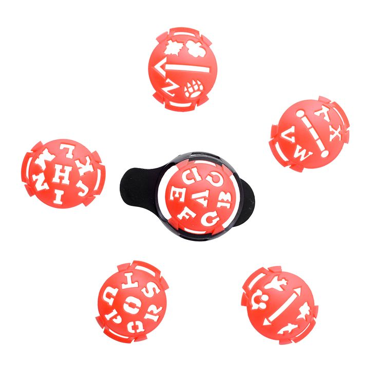 2015 New 6PCS/lot Golf Ball Line Liner Marker Pen Drawing Alignment Marks Tool Set Equipment Accessories Red