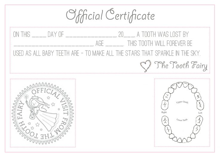 426 best tooth fairy fun images on pinterest tooth fairy for Free printable tooth fairy certificate template