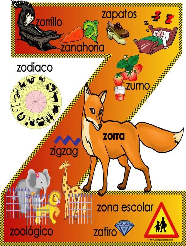 Spaanse woorden die beginnen met z