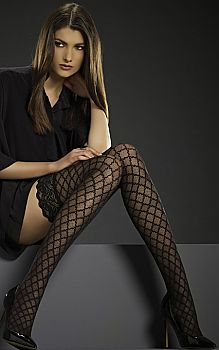 Patterned Hold Ups by Levante - gorgeous! Poshtights.com