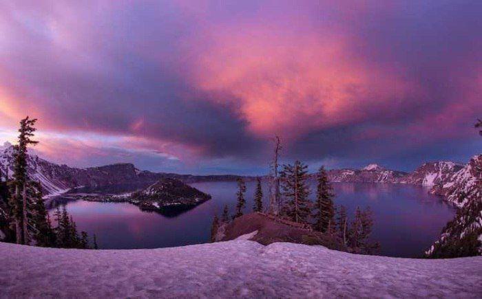 Кратерное озеро, штат Орегон.