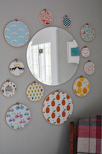 maybe a mirror will help add more light, and love the hoops!