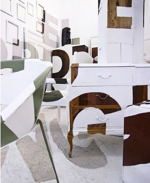 The Spanish art collective Boa Mistura composed of five self-proclaimed 'graffiti rockers' created this cool anamorphic typography installation for the interior design fair Interiorissimo Decoracción 2011 «