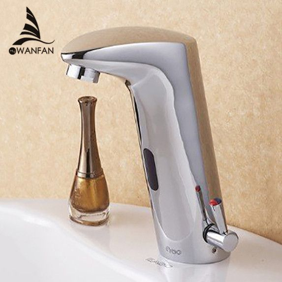 Design Hot & Cold Automatic Hands Touch Free Sensor Faucet Bathroom Sink Tap Bathroom faucet Brass Material 408901 - ICON2 Luxury Designer Fixures  Design #Hot #& #Cold #Automatic #Hands #Touch #Free #Sensor #Faucet #Bathroom #Sink #Tap #Bathroom #faucet #Brass #Material #408901