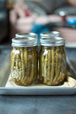 Garlicky Pickled Green Beans From Ball Fresh...