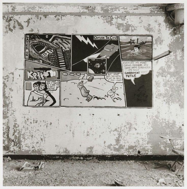 Peter Hujar Canal Street Piers Krazy Kat Comic On Wall By David Wojnarowicz 1983 Surreal Art Prints Pier