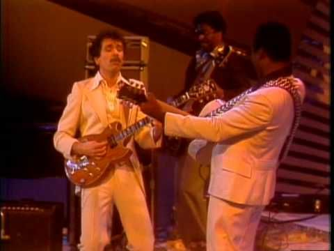 "George Benson & Carlos Santana Midnight Special 1976 BREEZIN  George Benson's 1977 soft jazz hit ""Breezin'"" is a care-free song that is worthy of a nod on a nice spring day.  Here is a pretty cool performance featuring special guest Carlos Santana."