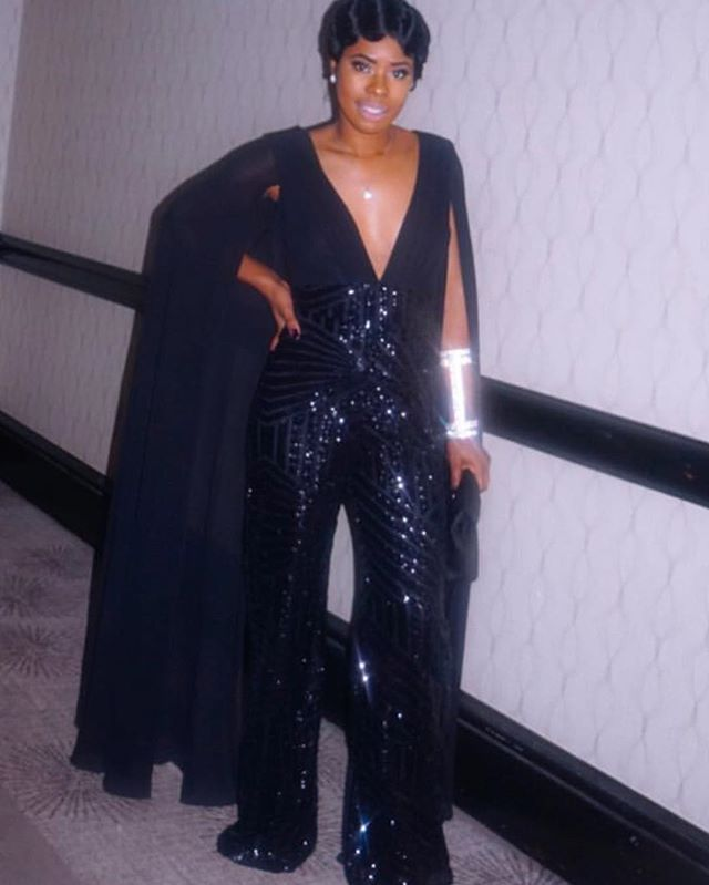 e3085bdcb98 ... wearing our  R SLAY THE RUNWAY SEQUIN JUMPSUIT - BLACK (CUSTOM) This  Jumpsuit will leave them speechless THIS FABRIC IS AMAZING   intertwinecollection