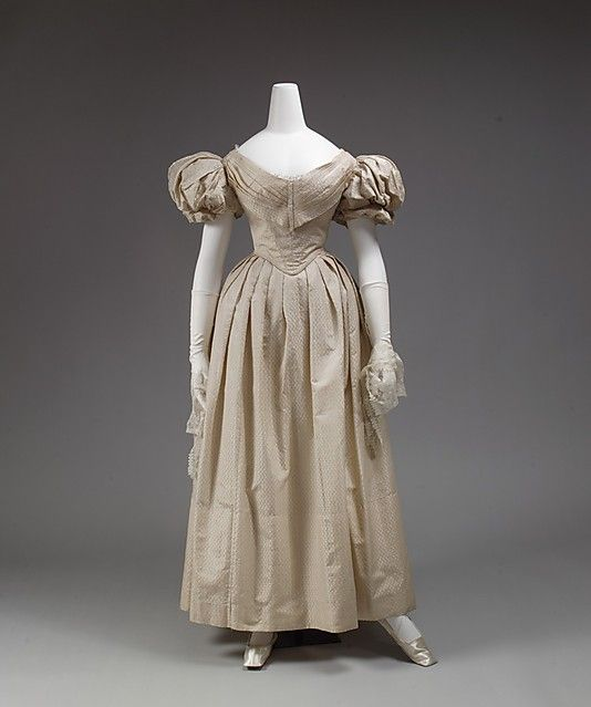 Dress  Date: 1833–35 Culture: British  (or, a 1980's prom dress that just needs to be dyed pink)