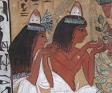 Ancient Egypt: From the Workers' Village at Luxor, Egypt, showing Sennedjem and his wife.
