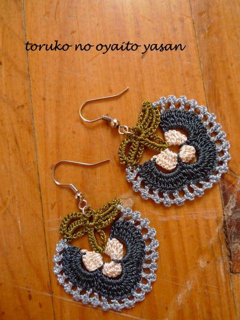 oya crochet motif earring