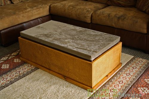 How To Build A Storage Ottoman Coffee Table Woodworking Projects Plans