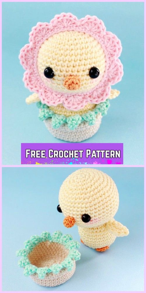 Easter Crochet Chicken Free Patterns- Crochet Funny Chick Amigurumi Free Pattern