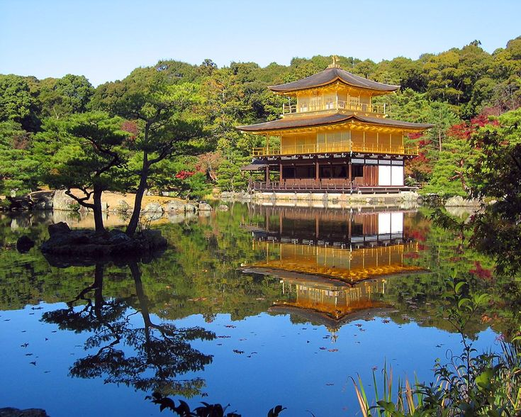 Le Pavillon d'Or - The Temple of the Golden Pavilion - Kinkaku-jiRise Sun, Favorite Places, Beautifulplaces Photos, Beautiful Japan, Google Search, Beautiful Places, Paula Deen, Kyoto Japan, Japan Travel