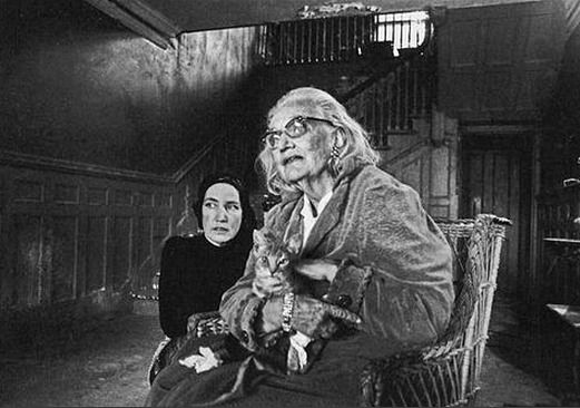 The Beales in the Entry Hall of Grey Gardens 1971